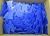 Шпули пластиковые для мулине (500 шт). Цвет - синий