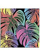 Фотокартина на холсте Тропические листья, 70*70 см