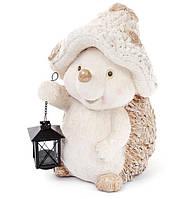Декоративная фигура Ежик с фонарем, 37см, фото 1
