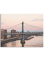 Фотокартина на холсте Закат на мосту, 70*90 см