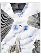 Фотокартина на холсте Самолет в небе, 70*90 см