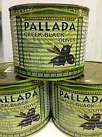 Греческие Маслины чёрные Средние 140/160 1 кг Маслины Греческие