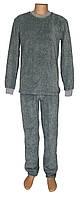 Пижама мужская махровая 03212-2 Графит Меланж для сна и дома, р.р.44-62