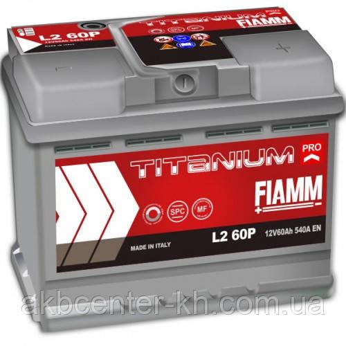 Автомобильный аккумулятор FIAMM TITANIUM PRO 6СТ- 60Аз 540А L