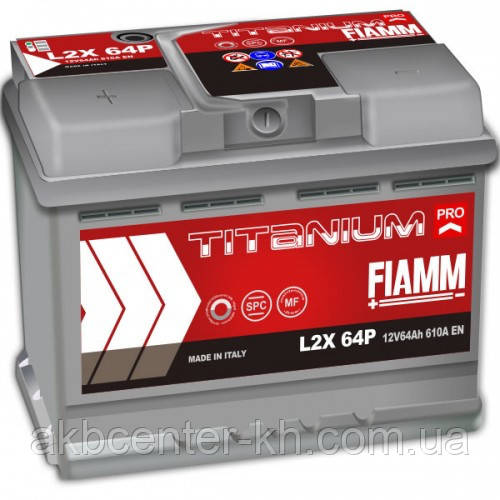 Автомобильный аккумулятор FIAMM TITANIUM PRO 6СТ- 64Аз 610А L