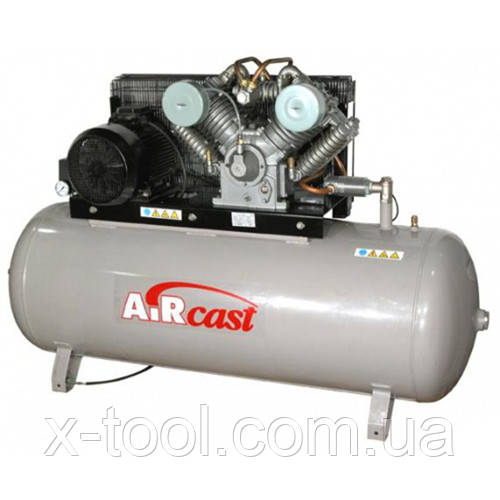 Компрессор поршневой с горизонтальным ресивером повышенного давления Aircast СБ4/Ф-500.LT100/16-7.5 (Беларусь)