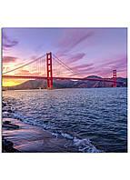 Фотокартина на холсте Мост Золотые Ворота, 80*80 см