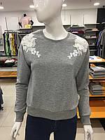 Реглан длинный рукав женский с вышивкой MDG