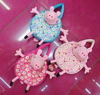 Детская плюшевая сумка игрушка свинка пеппа ( в наличии: малиновая и голубая )