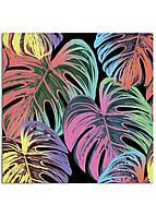 Фотокартина на холсте Тропические листья, 80*80 см