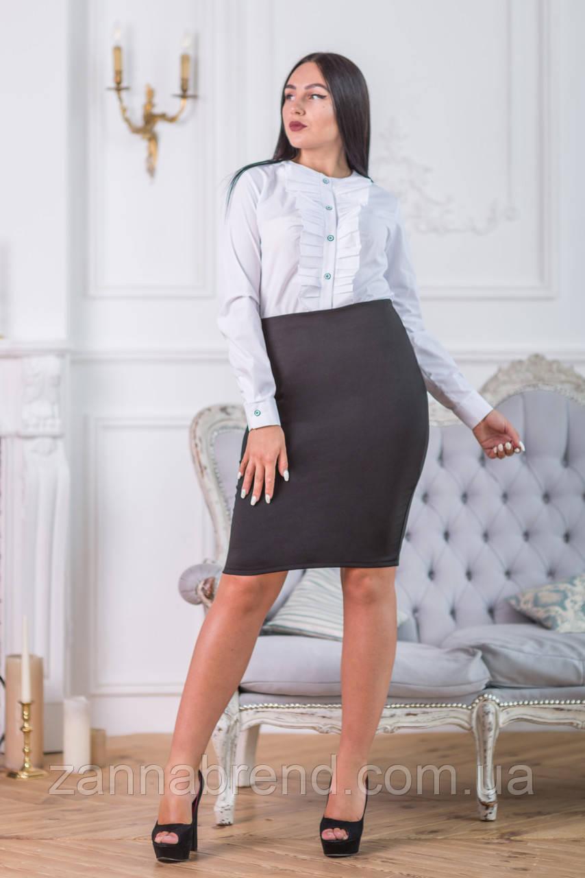 ee3f05c98c1 Белая блузка с рюшами без воротника - купить по лучшей цене в ...