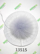Меховой помпон Енот, Св. Серый, 12/18 см, 13515, фото 3