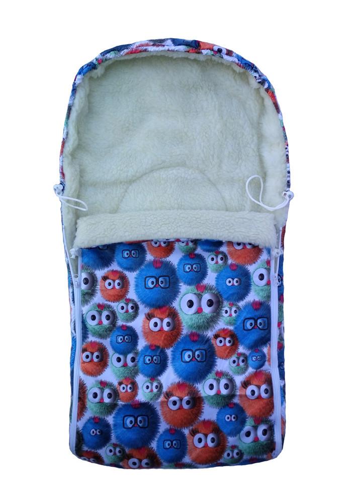 "Конверт в санки, коляску на овчине ""BabyWay"" Angry Birds"