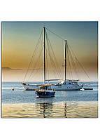 Фотокартина на холсте Яхта, 90*90 см