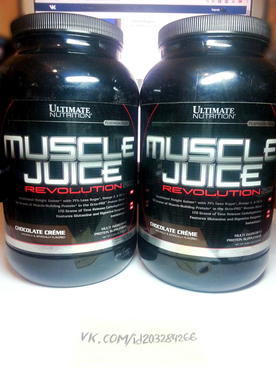 Гейнер, Ultimate Nutrition MUSCLE JUICE 2600 Revolution 2,12кг