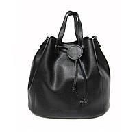 Женская сумка Felicita 699 из натуральной кожи итальянская фабричная  черного цвета затягивается шнурком ee747924068