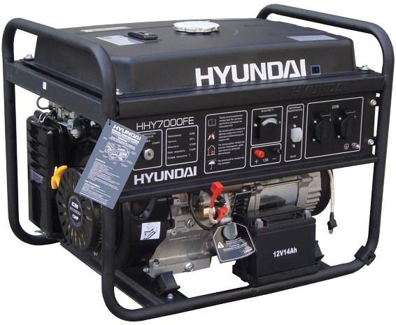 Генератор бензиновый Hyundai HHY 7010FE (5,5кВт)