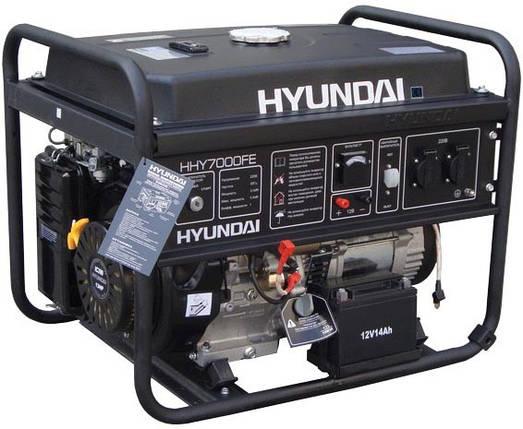 Генератор бензиновый Hyundai HHY 7010FE (5,5кВт), фото 2