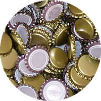 Пивная пробка металическая, золотая (EU)