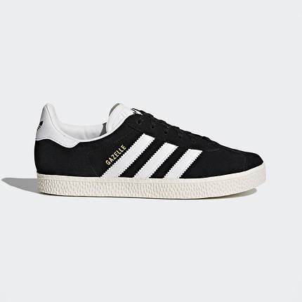 """ОРИГІНАЛ! Кросівки Adidas Gazelle 2 Junior """"Core Black"""" (Чорні/Білі), фото 2"""