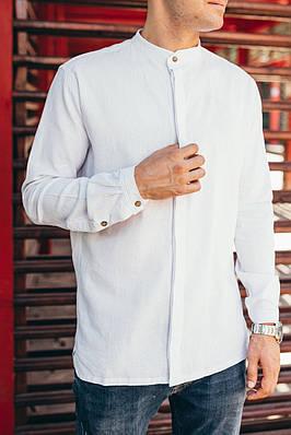 Рубашка мужская белая Linen Shirt (Лайнен Шёрт) от бренда Citizen размер S, M, L, XL