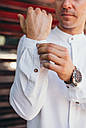 Рубашка мужская белая Linen Shirt (Лайнен Шёрт) от бренда Citizen размер S, M, L, XL, фото 2