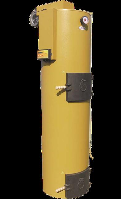 Котел твердотопливный длительного горения Stropuva (Стропува) S30-P с программатором и вентилятором