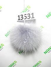 Меховой помпон Енот, Св. Серый, 10/15 см, 13531, фото 2