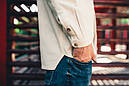 Рубашка мужская бежевая Linen Shirt (Лайнен Шёрт) от бренда Citizen размер S, M, L, фото 5