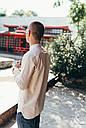Рубашка мужская бежевая Linen Shirt (Лайнен Шёрт) от бренда Citizen размер S, M, L, фото 4
