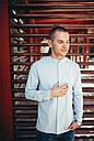 Рубашка мужская голубая Linen Shirt (Лайнен Шёрт) от бренда Citizen размер S, M, L, XL, фото 4