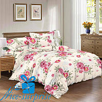 Сатиновый комплект постельного белья АДЕЛИНА (150*220)