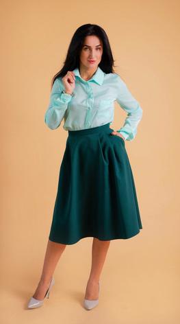 "Класична жіноча сорочка ""Ната"" розміри 42,44,46,48,50, фото 2"