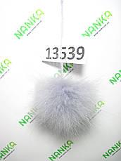 Меховой помпон Енот, Св. Серый, 9 см, 13539, фото 2
