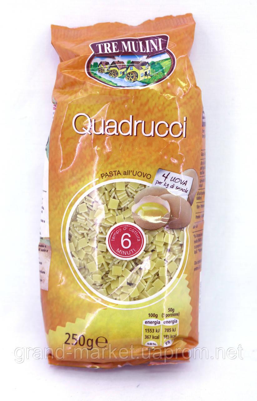 Макароны суповые Tre Mulini Quadrucci яичные 250 г