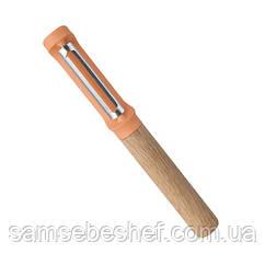 Овощечистка Bergoff Leo с вертикальным лезвием и деревянной ручкой, 3950006