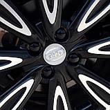 Защитные пластиковые крышки на колесные гайки 21 мм черные, фото 4