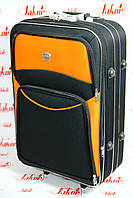 Чемодан Bonro Style черно-оранжевый большой