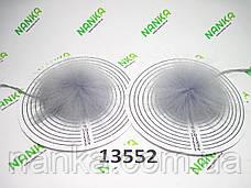 Меховой помпон Енот, Св. Серый, 7/14 см, пара 13552, фото 3