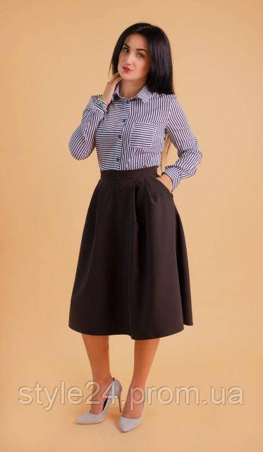 Жіноча блуза на довгий рукав.Р-ри 42-50
