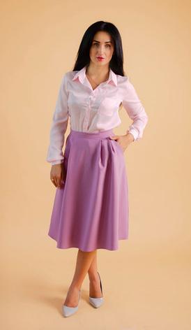"""Классическая женская рубашка """"Ната"""" размеры 42,44,46,48,50, фото 2"""