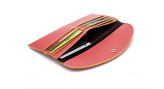 Жіночий гаманець-візитниця 2 в 1 Темно-коричневий
