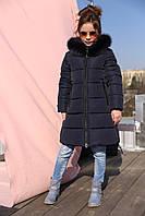 Детская зимняя куртка для девочек (рост 140)