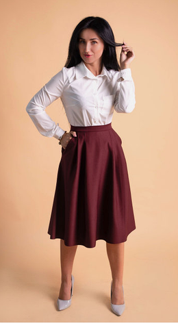 """Классическая женская рубашка """"Ната"""" размеры 48,50, фото 2"""