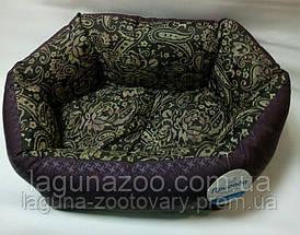 Лежак КОКОС 1 орнамент-бордо (48*38*18см) для собак и кошек, фото 2