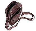 Мужская кожаная сумка Dovhani Bon R010-1 Коричневая, фото 9