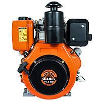 Дизельный двигатель Vitals DM 10.5 sne (шлиц, 10,5 л.с, 25,4 мм, эл. стартер)