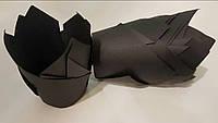 Тарталетки бумажные для кексов, капкейков черные тюльпан