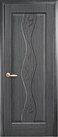 Дверное полотно Волна Глухое с гравировкой Серый (Grey)