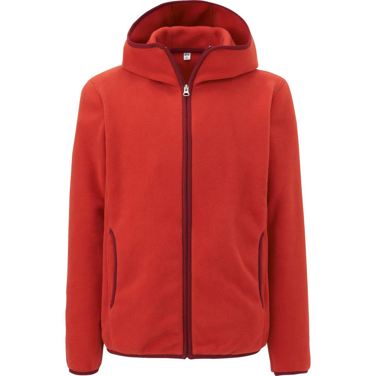 Кофта Uniqlo Men Fleece Full-Zip Hoodie RED